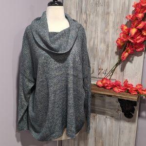 Leo & Nicole cowl-neck sweater, 2X
